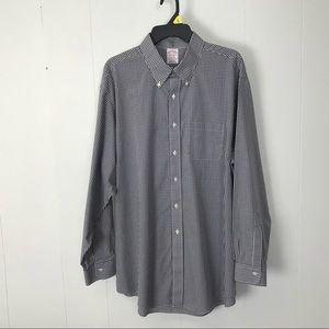 Brooks brothers Madison mens plaid shirt 17.5 35